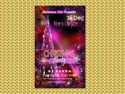 Freebie- Christmas Party Club Flyer Template freebie freebies flyer christmas party club psd