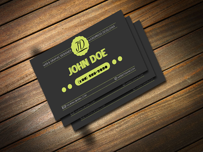 Freebie Retro Business Card PSD Template