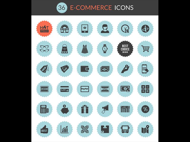 Ecommerce icons dribbble