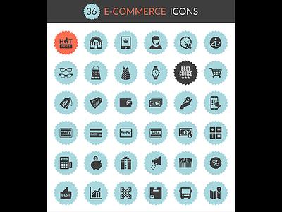Freebie 36 6 e-Commerce Icons  eps ai png e-commerce vectors icons freebie freebies