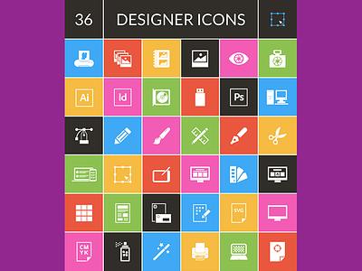 Exclusive Freebie : 36 Designer Icons set  ai eps png vectors freebies freebie psd icons