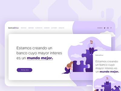 Website | Banca Ética website design responsive design design thinking ui design website web ux graphic design branding