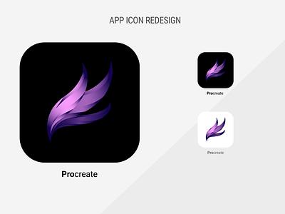 Rebound Procreate icon icon procreate ipad logo vector illustration design