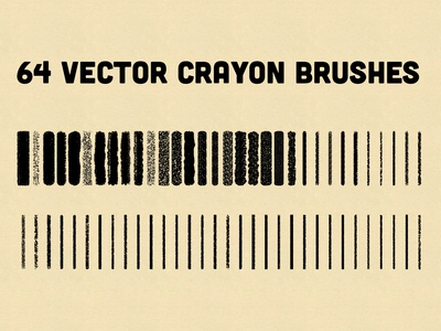 Vector Crayon Brushes for Illustrator