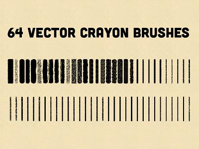 Vector Crayon Brushes for Illustrator illustrator brushes