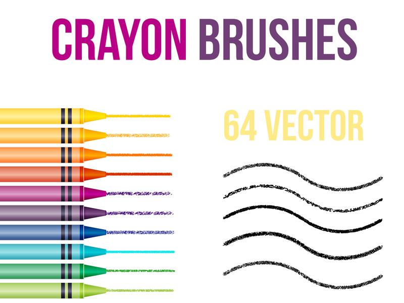 Illustrator Crayon Brushes free vector brushes crayons crayon