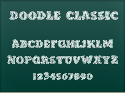 Doodle Classic - Sketch Font typedesign typeface type typography doodle font font