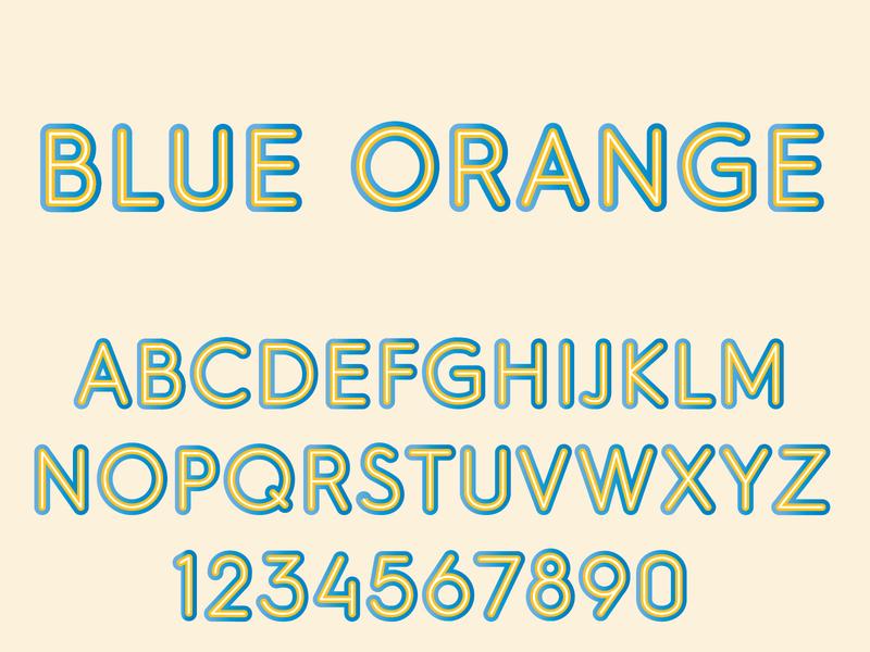 Blue Orange Color SVG Font font design type design type typography color fonts color font svg font