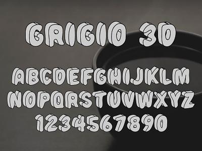 Grigio 3D SVG Font type design typeface typography font 3d font