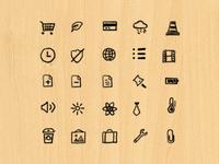 Dark Hand Drawn Icons