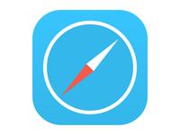 Flat iOS 7 Safari Icon