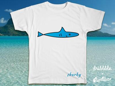 Sharky sharky t-shirt design logo