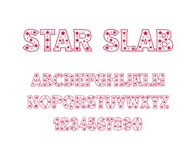 Star Slab Font typeface type design font design font
