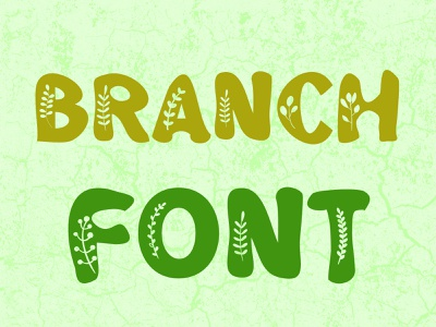 Branch Font nature font design typeface design typeface typography fonts
