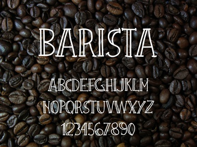 Barista Urban Font hand-drawn typography typedesign coffee font coffee shop font typeface