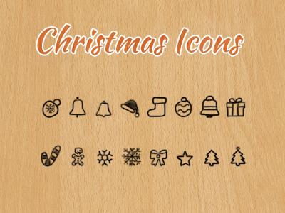 Free Christmas Icons - Hand Drawn christmas icons freebie hand-drawn free