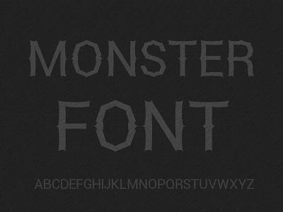 Monster Font display font monster fonts font
