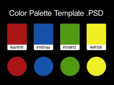 Color Palette Template Photoshop .PSD kit ui freebie free .psd photoshop template palette color