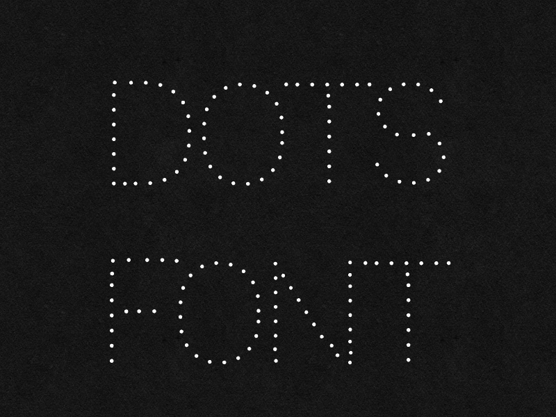 Dotted Dot Free Font fonts freebie typeface font free dot dotted