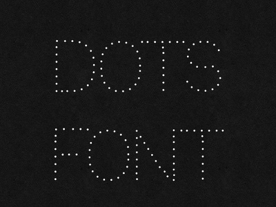 Dotted Dot Free Font fonts typeface font dot dotted