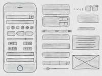 Free Hand Drawn iPhone 6s Ui Kit