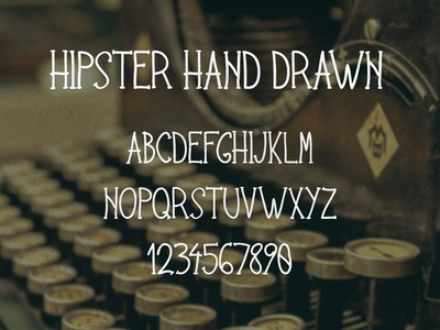Hipster Hand Drawn Font typeface font hand drawn hipster