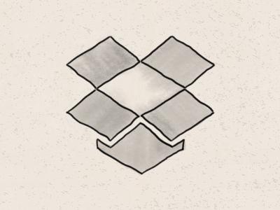 Hand drawn dropbox logo