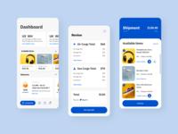 ShippingCart App UX blue software design ui ux branding ux design ui design