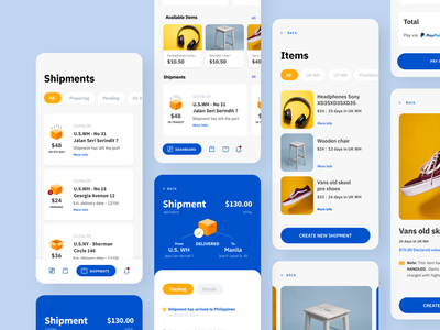 Frame 8  1 shopping shipments shipment shipping management shipping yellow ux blue ux design ui design ui design