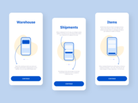 ShippingCart delivery app shopping shipping mobile mobiledesign appdesign onboarding screen onboarding ui onboard onboarding branding mobile app blue ui ux web design design ux design ui design