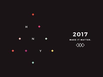 Happy New Year from KROON STUDIO! ui design digital agency kroon studio make it matter christmas tree design new year 2017 happy new year