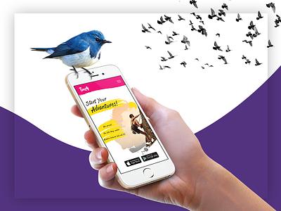 Branding colorful colors spirit free lines shapes mobile app. users ux design ui design creators web design