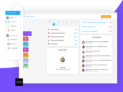 Class Tag - Web and Mobile App, Branding design education dashboard children colaboration teacher parents ux design ui design mobile app web app branding