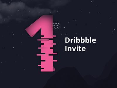 1x Dribble Invite from us design one dribbble invite dribbble kroon studio invite