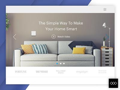 Modern Living Environment - Web Design simple light blue user interface idea design inspiration ux design ui design webdesign modern living