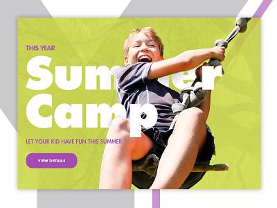 Montessori school - web design purple fun child kid green summer camp school education montessori