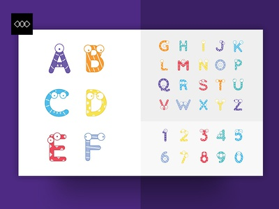 Class Tag - Alphabet icons kids font blue orange yellow colorful typeface children font education fonts typography icons alphabet class tag