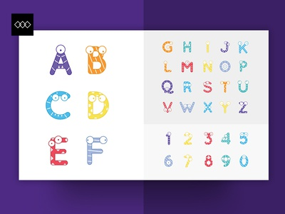 Class Tag - Alphabet icons kids font blue orange yellow colorful typeface children font education fonts typography icons alphabet class tag