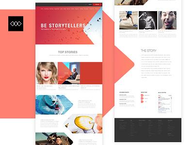Homepage of a storyteller web design stories ui ux black red world class ui design ux design website storyteller