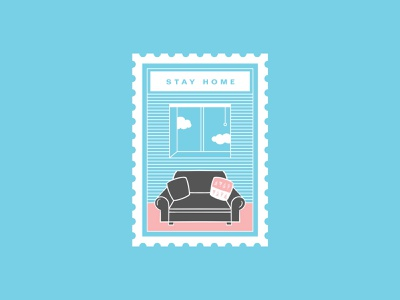 30 day challenge: Stay Home Stamp 30daychallenge procreate illustrator illustration stamp stayhome home covid art graphicart graphic design