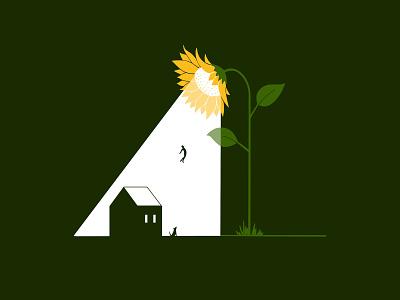 30 day challenge: Sunflower plant lights sunlight graphicdesign flower sun ufo sunshine sunflower illustration graphicart graphic art 30daychallenge