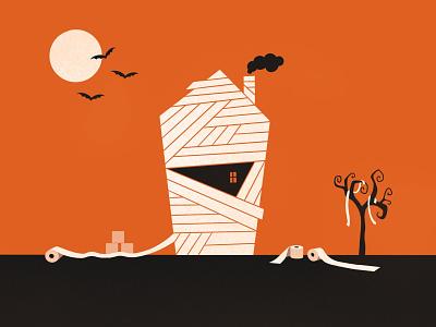 30 day challenge: Halloween black orange happyhalloween october tp toiletpaper 2020 stayhome home house mummy spooky halloween design illustrator illustration graphicart graphic art 30daychallenge