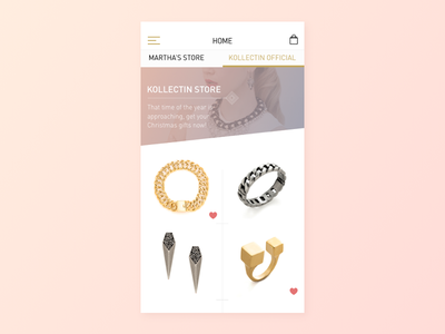 Kollectin Home store ontording jewelry fashion ecommerce