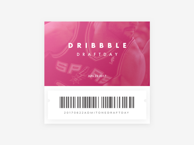 Dribbble Draft Day '17 – One (1) Invite draft invite dribbble draft day