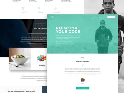 DevLifts Landing Page
