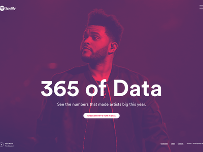Spotify x 365 Of Data duotone the weeknd data spotify