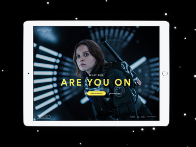 Spotify x Rogue One: A Star Wars Story website landing page marketing star wars rogue one spotify