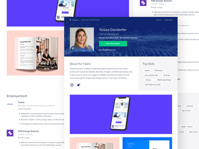 Toptal redesign web design remote freelance top talent ux uiux ui landing page ui toptal