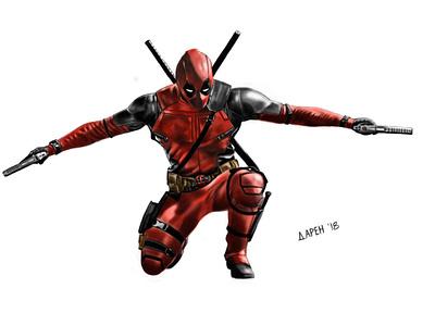 Deadpool - One of my favorite heroes...and he is very fun! characterdesign fan art fun xman marvelcomics characters wade wilson red movie art superheroes superhero deadpool marvel comic illustration design