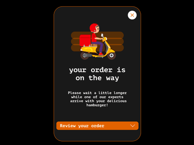 Popup - Daily UI 016 order ui delivery hamburger daily ui 016 daily 100 challenge dailyui adobe xd
